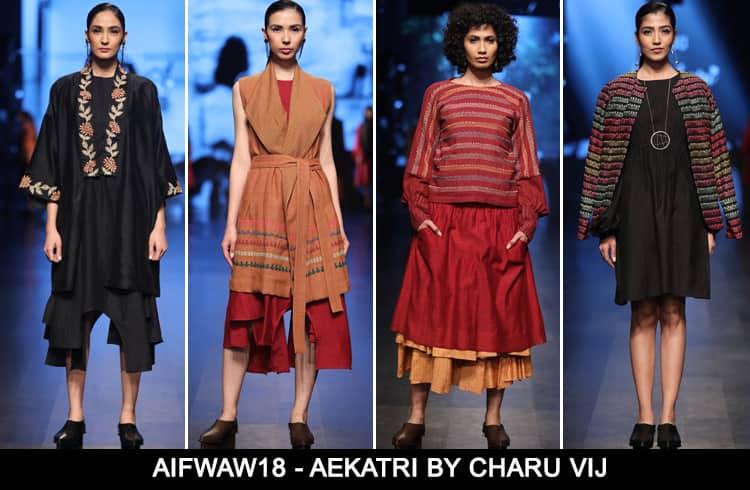 Aekatri by Charu Vij at AIFWAW 2018