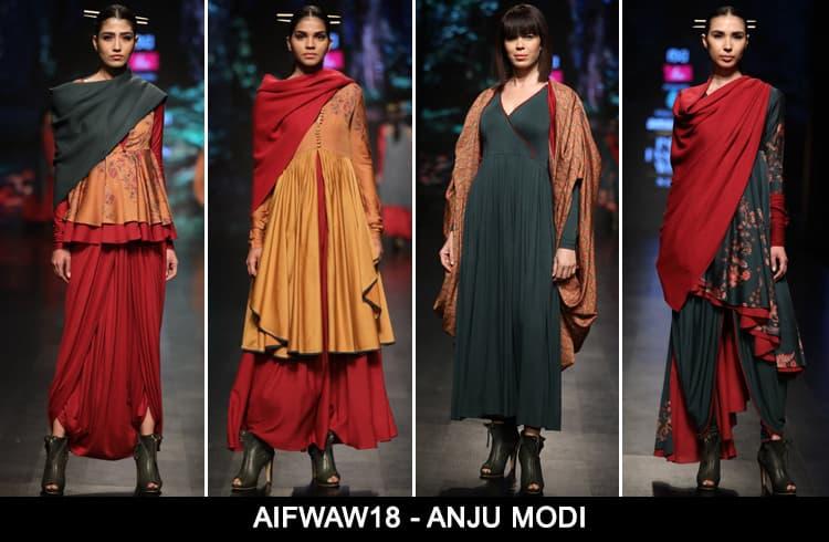 Anju Modi at AIFWAW 2018