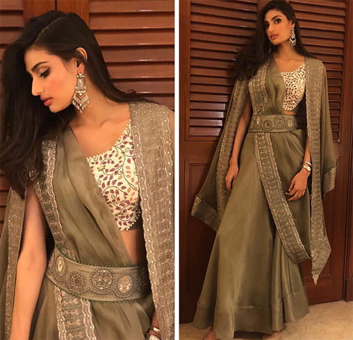 Athiya Shetty in Anamika Khanna outfit