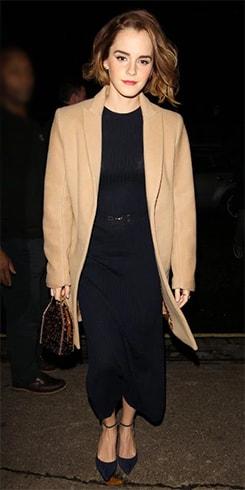 Emma Watson in Camel Coat