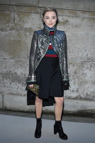 Chloe Grace Moretz At The Louis Vuitton Show
