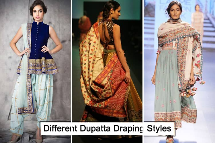 Different Ways To Carry Dupatta: