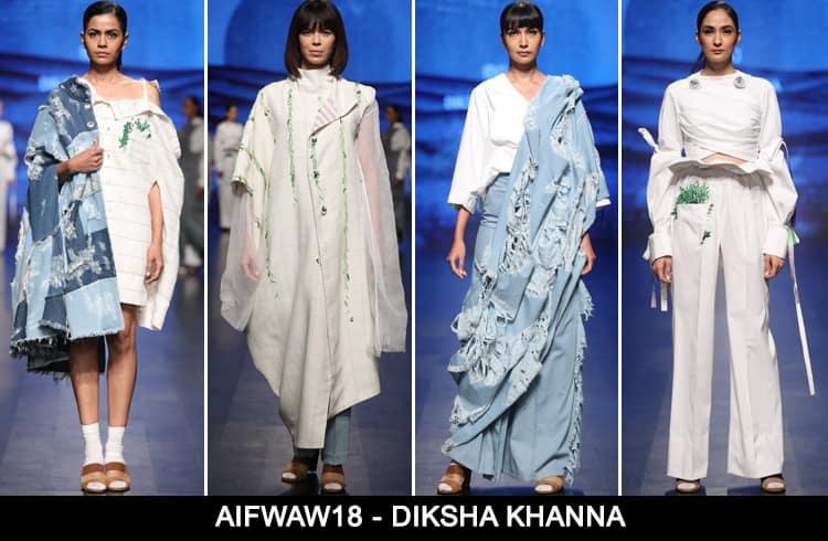 Diksha Khanna at AIFWAW 2018