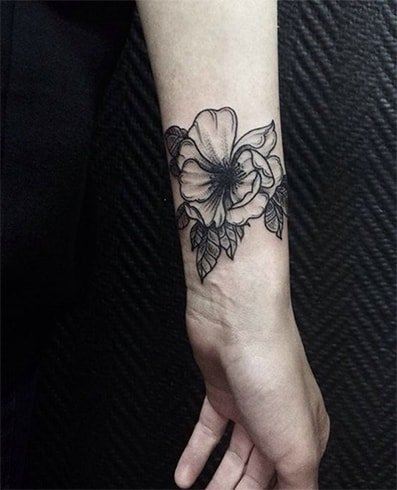 Dot-Work Floral Tattoo