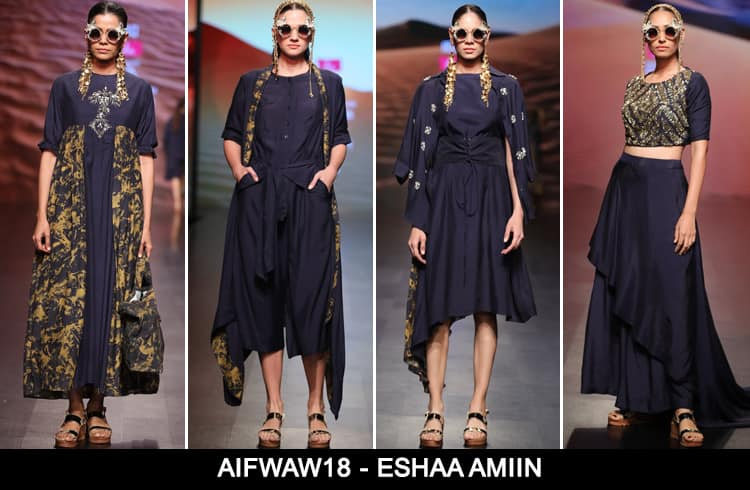 Eshaa Amiin at AIFWAW 2018