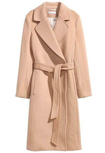 H and M Camel Coat