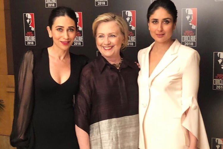 Kapoor Sisters And Hillary Clinton at The India Today Conclave 2018
