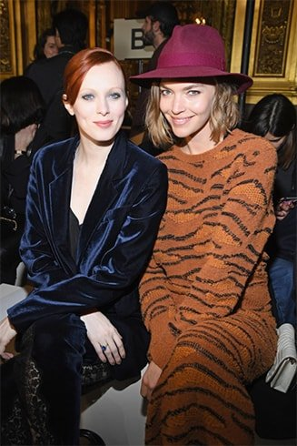 Karen Elson and Arizona Muse at the Stella McCartney show
