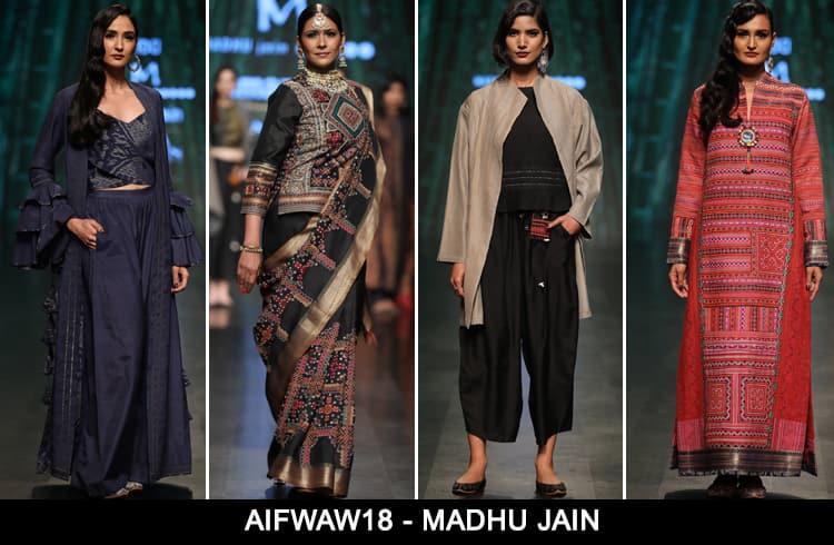 Madhu Jain at AIFWAW 2018