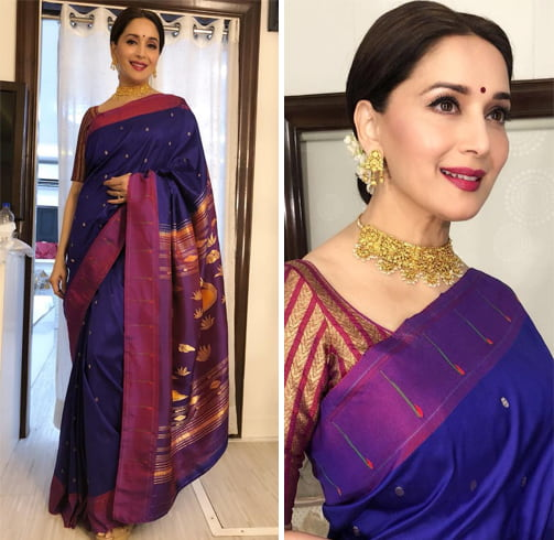Madhuri Dixit Sari From Madhurya Creations