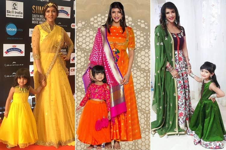 Manchu Lakshmi Nirvana Matching Dresses
