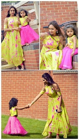 Popular Mother and Kid matching dresses