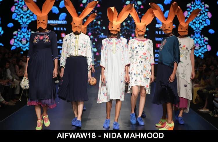 Nida Mahmood at AIFWAW 2018