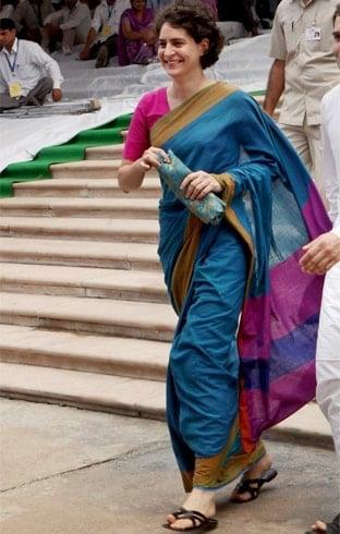 Priyanka Gandhi Saree