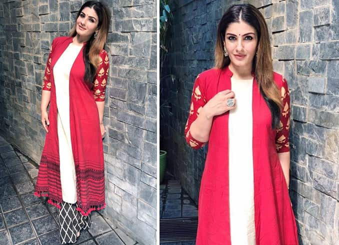 Raveena Tandon in Anushree Reddy outfit