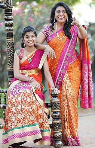 Roja and Her Daughter Matching Outfit