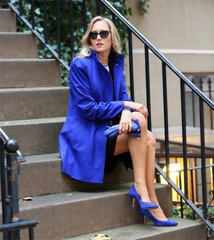 Royal Blue Dress With Blue Shoes