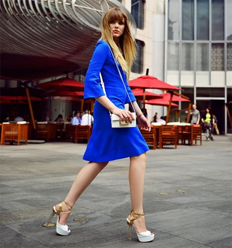 Royal Blue Dress With Shoes