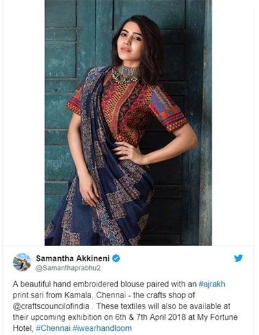 Samantha Akkineni Handloom Saree