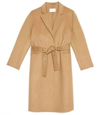 Sandro Camel Coat