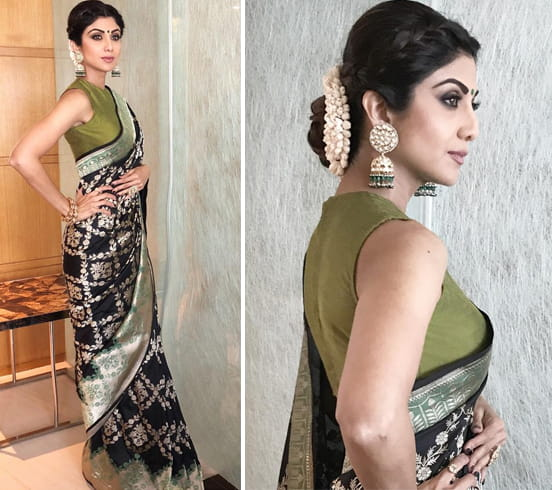 Shilpa Shetty in Swati and Sunaina sari