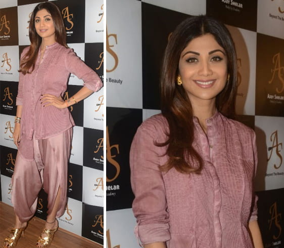 Shilpa Shetty at makeup studio launch