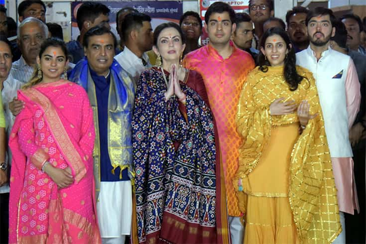 Shloka Mehta and Akash Ambani Engagement