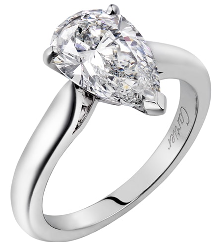 Solitaire Ring Pear Shaped Diamond