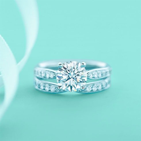 Tiffany Setting with diamond band