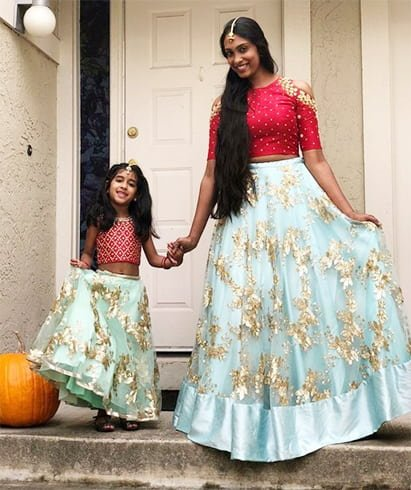 Traditional Mother and Daughter matching dresses