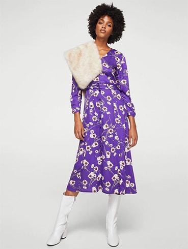 Ultraviolet Floral Dress