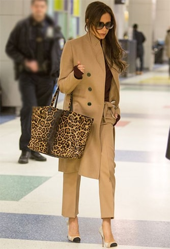 Victoria Beckham in Camel Coat
