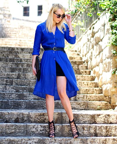 What Color Shoes To Wear With Royal Blue Cocktail Dress
