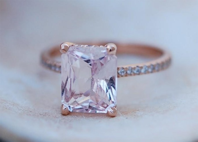Champagne Pink Sapphire Ring