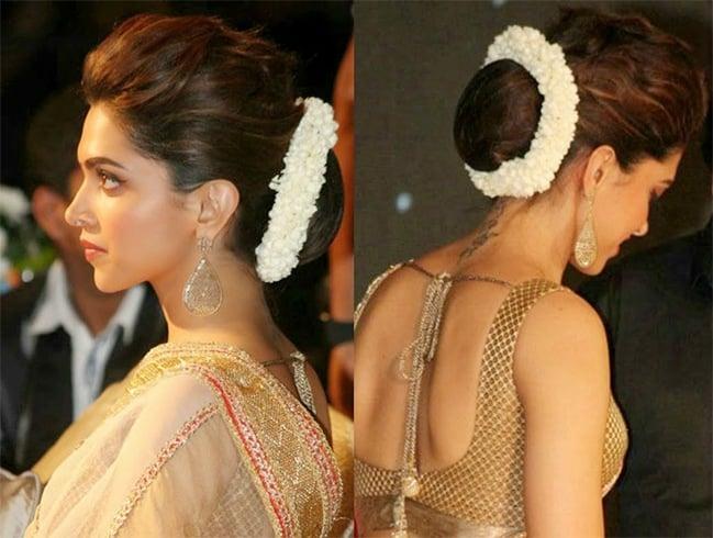 Gajra Bun Hairstyle