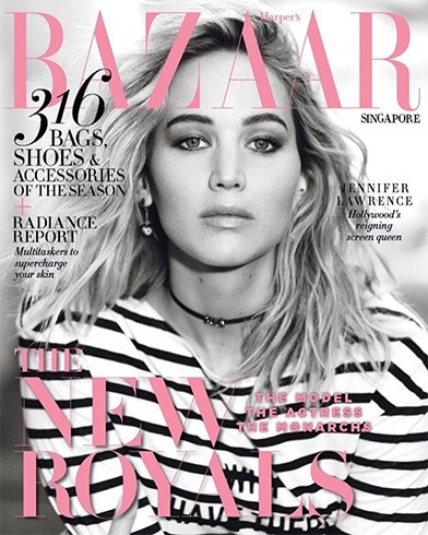 Jennifer Lawrence for Harpers Bazaar Singapore
