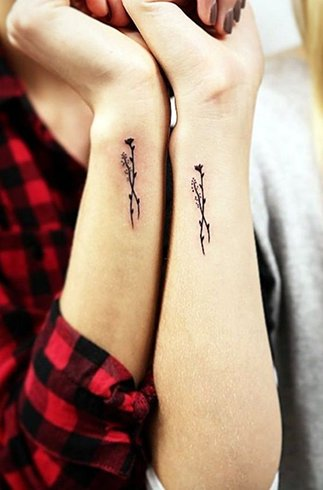 Matching sister tattoo designs