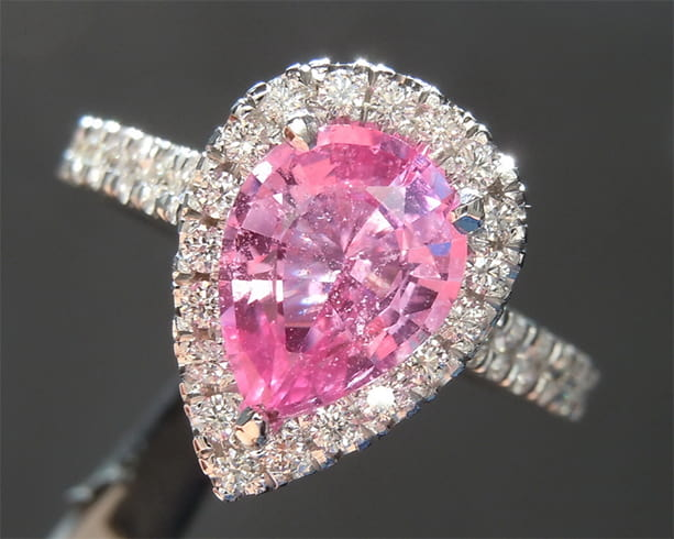 Pear-Shaped Pink Sapphire Ring