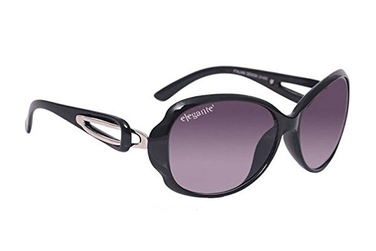 Purple Oval Sunglasses for Women