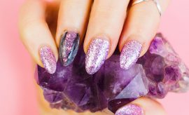 Purple amethyst for fashion