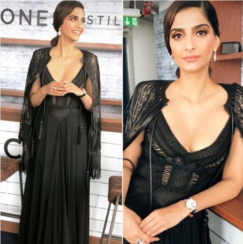 Sonam Kapoor Fashion In Black