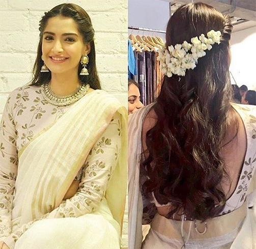 Sonam Kapoor Gajra Hair