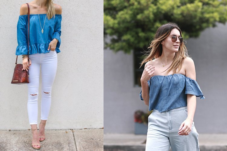 Wear jeans with shoulder Tops