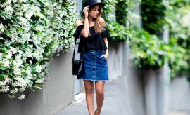 Wearing jeans in summer for fashion
