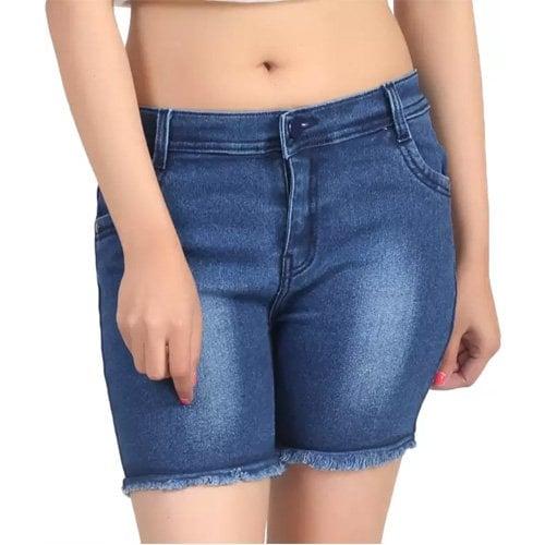 Womens Denim Blue Denim Shorts