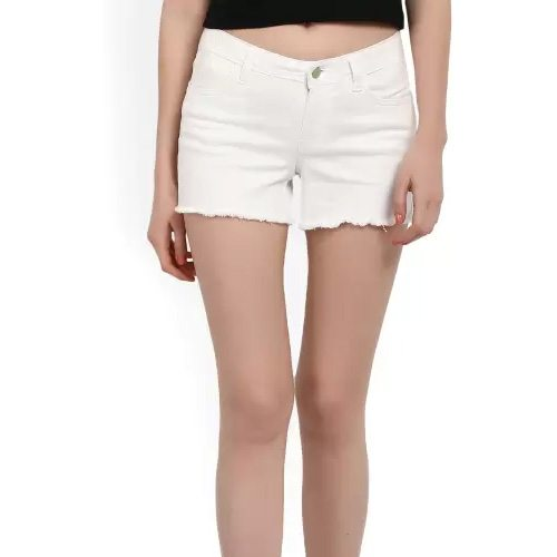 Womens White Denim Shorts