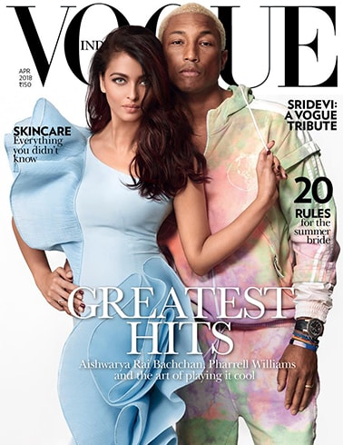 Aishwarya Rai And Pharell On Vogue April 2018