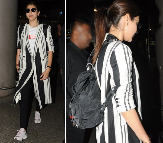 Anushka Sharma Prada backpack