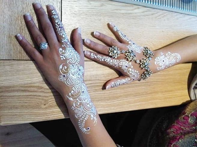 Bejeweled New Arabic White Mehndi