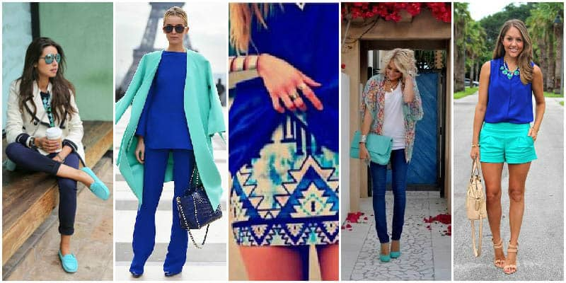 Cobalt Blue and Turquoise Colour Combinations